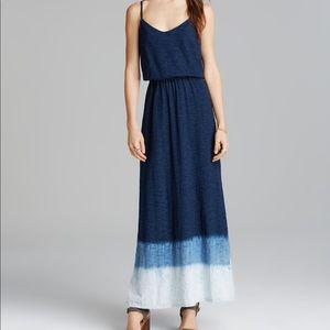 Splendid Ombre Maxi Dress Navy Blue
